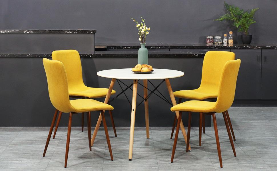 Amazon.com - Coavas Set of 4 Dining Chairs Fabric Cushion ...