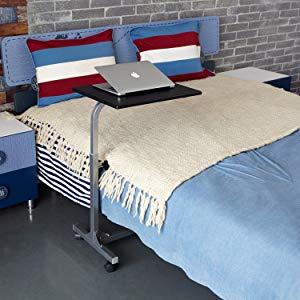 Over bed desk Bed Ikea Overbed Desk Amazoncom Amazoncom Coavas Overbed Table Medical Adjustable Portable