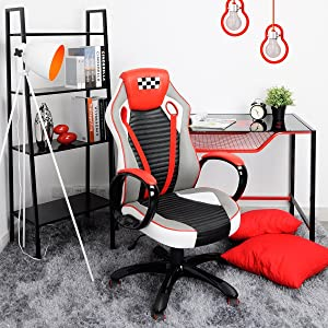 office leather chair. Features Of Computer Gaming Chair Office High Back PU Leather Ergomomic Racing E
