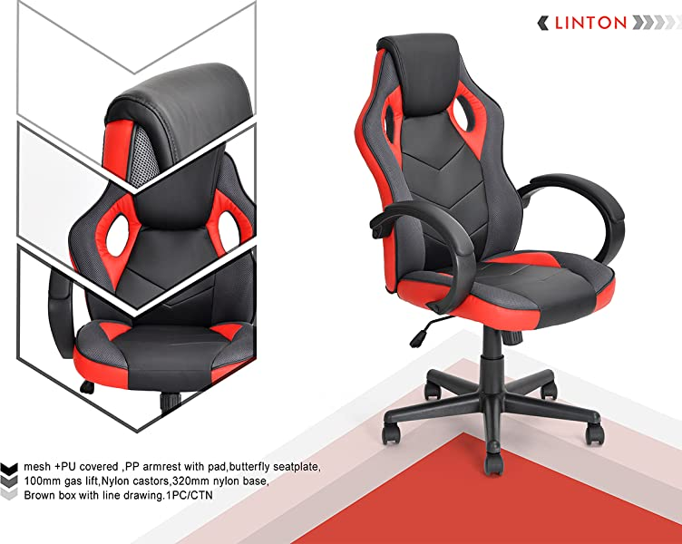 Coavas Executive Office Computer Chair/ Home Desk Gaming Racing Chair Can  Do: