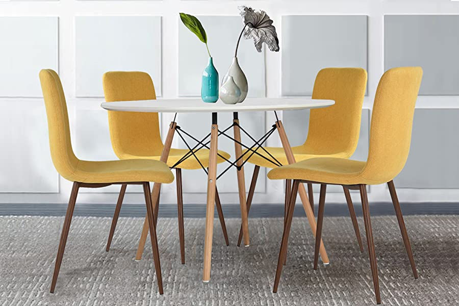 Great Coavas 4 Set Of Eames Kitchen Dining Table Chairs Set