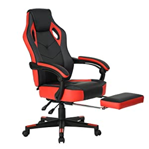 Main Parameter For Computer Gaming Chair/ High Back Computer Chair/  Computer Racing Chair/ Ergonomic Executive Swivel Task Desk Chair. Color: Red  And Black ...