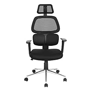 swivel high back ergonomic mesh office chair with adjustable lumbar support backrest headrest armrest and seat height