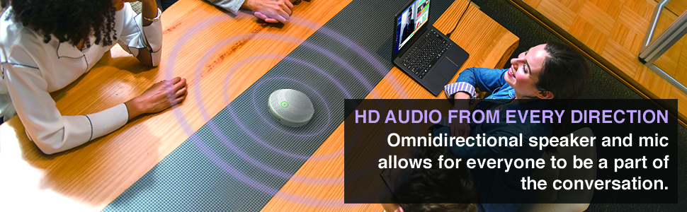 HD AUDIO DIRECTION Omnidirectional-speaker-and-mic conversation