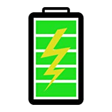 rechargeable li-on lithium-ion battery icon green power 10 HR life ten hour lifespan