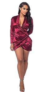 Amazon.com: Sedrinuo - Vestido sexy de manga larga con ...