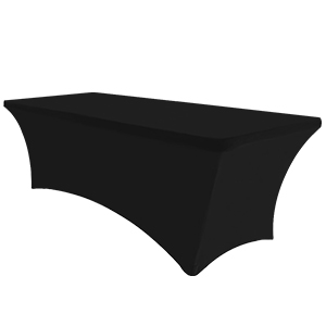 6Ft tablecover Black