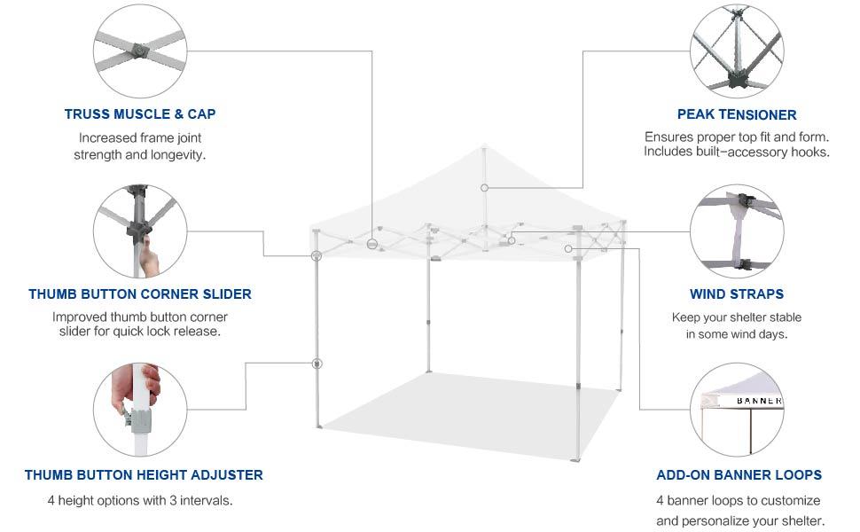 Eurmax 10 x 10 Pop up Canopy Commercial Tent setup