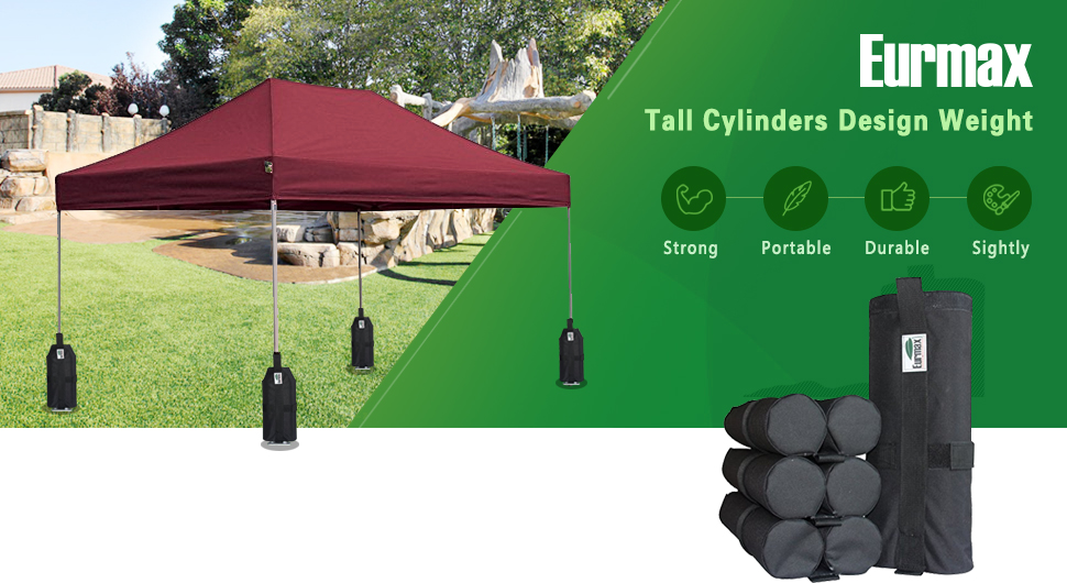 Stabilize any Instant Canopy Pop Up canopy or folding gazebo structures with a set of durable Eurmax universal canopy tent weight bags.  sc 1 st  Amazon.com & Amazon.com: Eurmax Weight Bags for Pop up Canopy Outdoor Shelter ...
