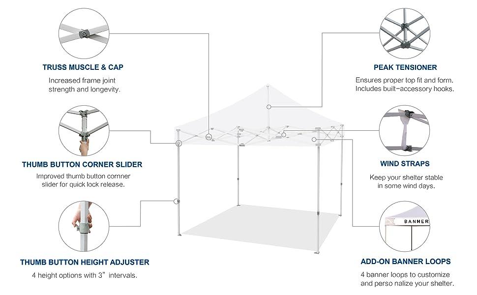 10X10 pop up canopy