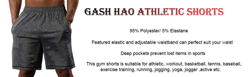 Gash Hao Athletic Shorts For Men With Pocket