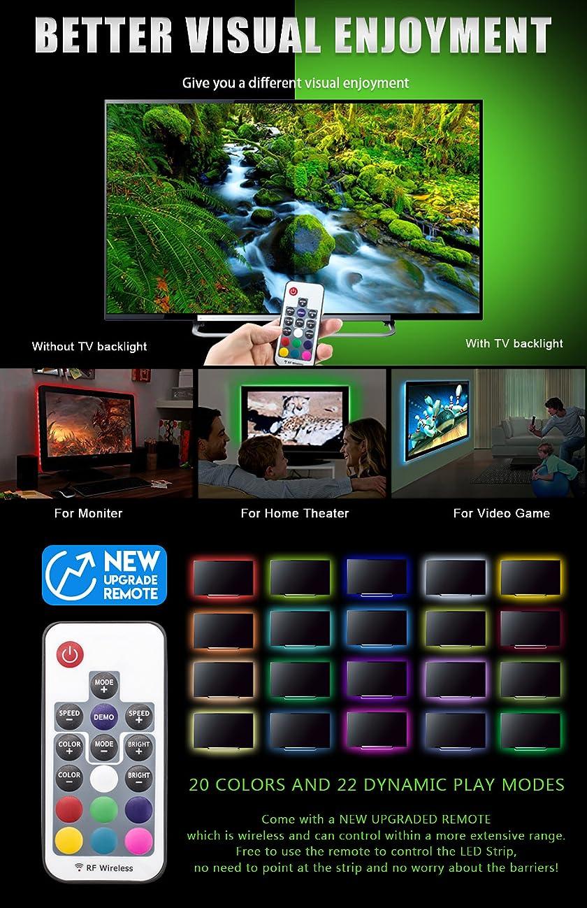 Amazon.com: 20 Colors LED Strips Bias TV Backlight,RGB Lights with ...