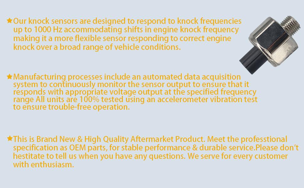 Amazon com: 30530PNA003, 30530PPLA01 Detonation Knock Sensor