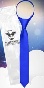 Black n Bianco Signature Neck Tie in Royal Blue