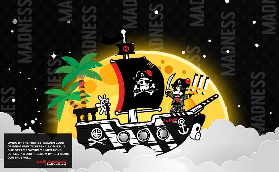 Black n Bianco Baby Milan Captin Ship Joggers Sweatpants