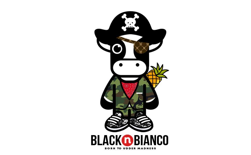Black n Bianco Baby Milan Logo Boys Jogger Pants