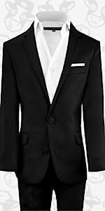 2fbf55fca3ebb6 Amazon.com: Black n Bianco Boys' First Class Slim Fit Trousers Dress ...