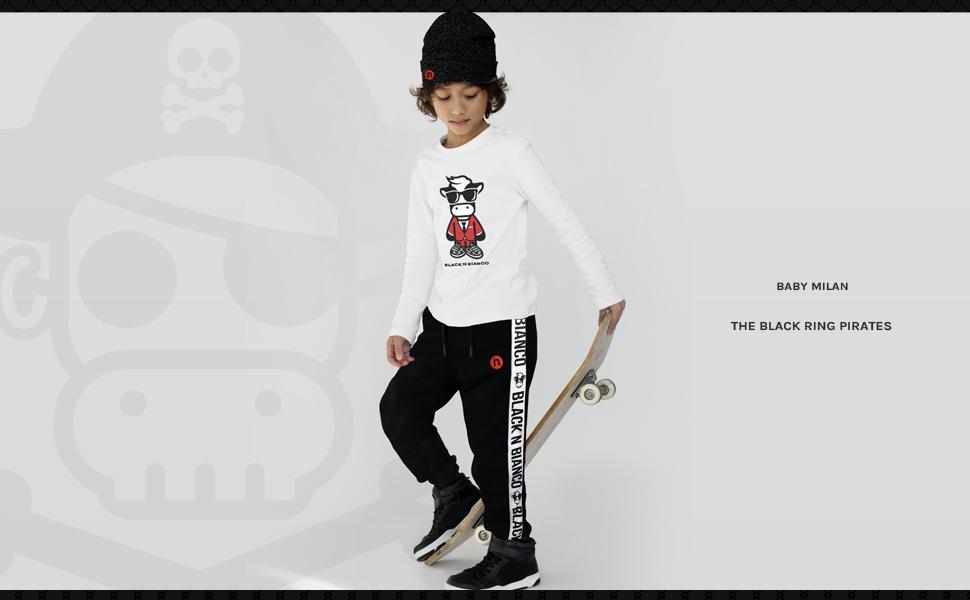 Black n Bianco Streetwear Fashion Joggers Sweatpants. Skater Fashion