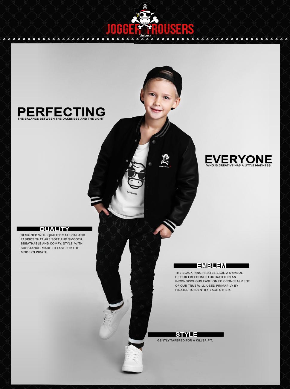 Black n Bianco Sweatpants Joggers Streetwear Skate Fashion