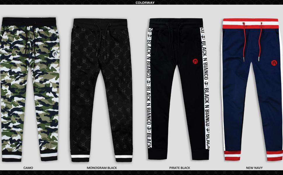 Black n Bianco Sweatpants Trousers Joggers. Streetwear Fashion