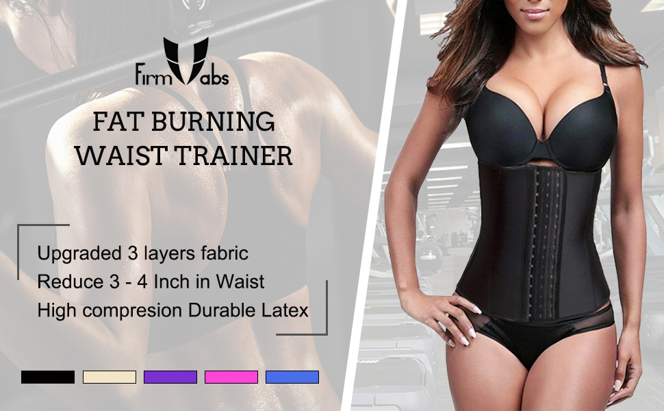 5eeae7b00c FIRM ABS Women s Latex Waist Trainer Corset for Weight Loss Cincher Shaper  Slimmer