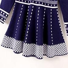 SMILING PINKER Girls Knit Sweater Long Sleeve Winter Party Dress 3