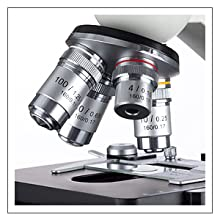 OMAX compound biological microscope with eight level magnifications from 40X to 2000X