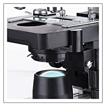 OMAX binocular biological compound microscope Variable LED intensity transmitted illumination