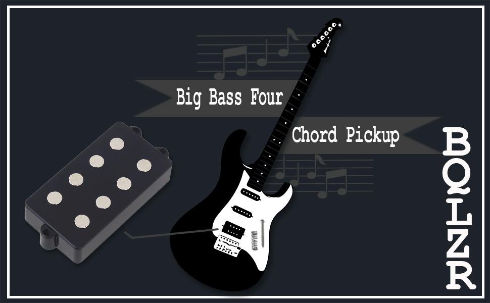 Amazon Bqlzr Noiseless Good Balance 4 String Bass Guitar Pickup