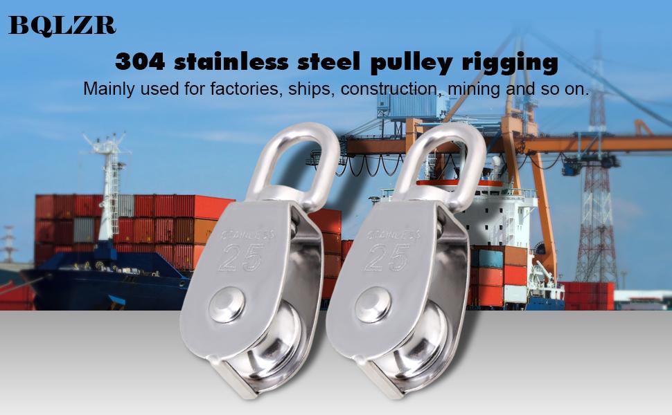 BQLZR M25 25mm Swivel Stainless Steel 304 Wire Rope Single-sheaved ...