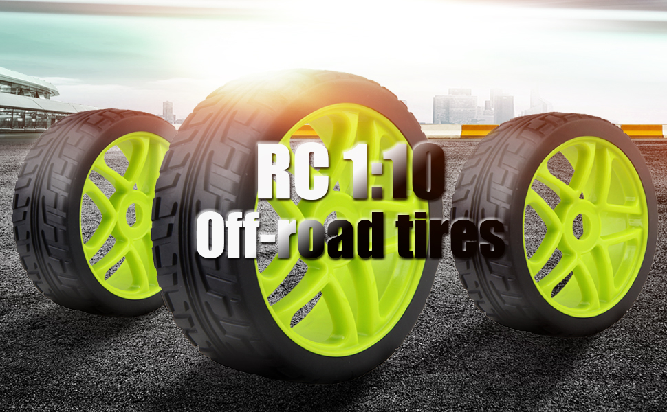 RC 1:8 model off-road vehicles suitable for running on the cement ground, good wear resistance. With Star hub rims ,grip grain tires.