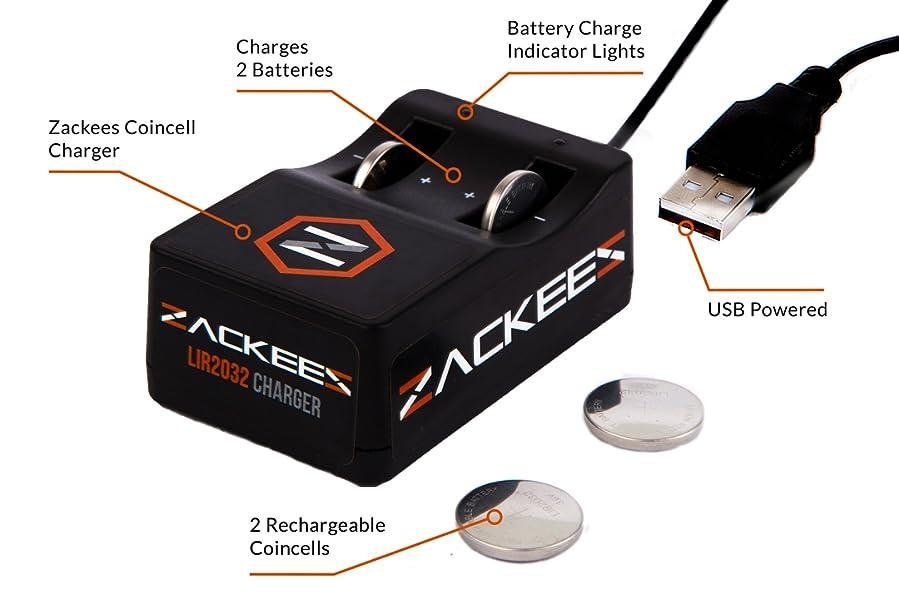 Amazon.com: zackees – Batería recargable usb cargador Coin ...