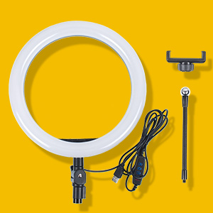 LED Ring LightDimmable Beauty Plastic USB Adjustable Streaming Makeup Video Shooting Phone6