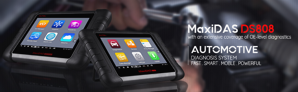 Autel MaxiDAS DS808K (Upgraded Version of DS708,DS808) OBD2 Scanner Code  Reader Diagnostic Tool KIT Tablet Full Set Support Injector Key Coding with