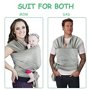 Accmor Ring Sling Baby Carrier Breathable Mesh Baby Sling Wrap Baby