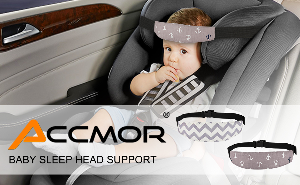 2 Pack Baby Car Seat Head Support Band Strap For Seats Stroller Headrest Sleeping Neck