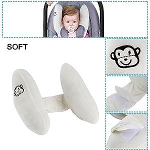 Toddler Neck Pillow For Car Seat Headrest Support Travel Stroller Head