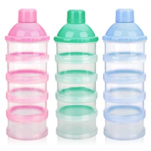 f665e8216f90 Accmor Baby Milk Powder Formula Dispenser, Non-Spill Smart Stackable Baby  Feeding Travel Storage...
