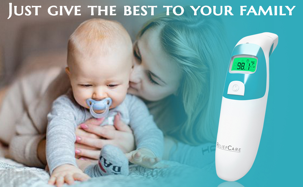 Digital thermometer has 3 color backlight.