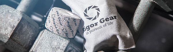 Rigor Gear Flexible Athletic Tape - Single Roll or 3-Pack for Lifting and Sports