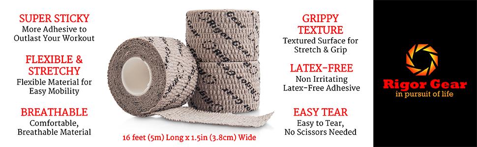 Rigor Gear Flexible Sticky Athletic Tape