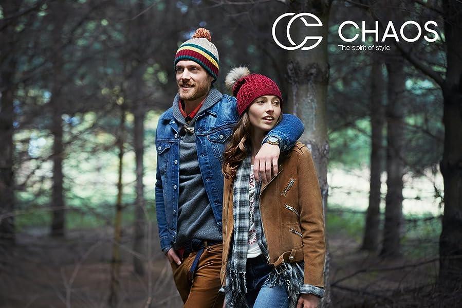 af9d5b9a3f0 Amazon.com  Chaos Hats Men s Jackson Acrylic Beanie (Brown
