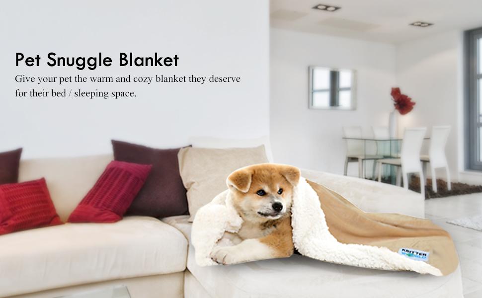 Amazon.com : KritterWorld Pet Dog Cat Puppy Kitten Microplush Sherpa Snuggle Blanket for Couch