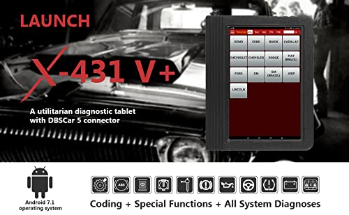 Launch X431 V+ is a good car diagnostic tool that can perform 11 Special Functions, Full-System Diagnoses, and ECU Coding.