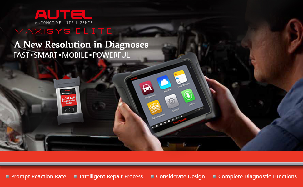 Autel Maxisys Elite is a diagnostic tool that supports various diagnostic functions.