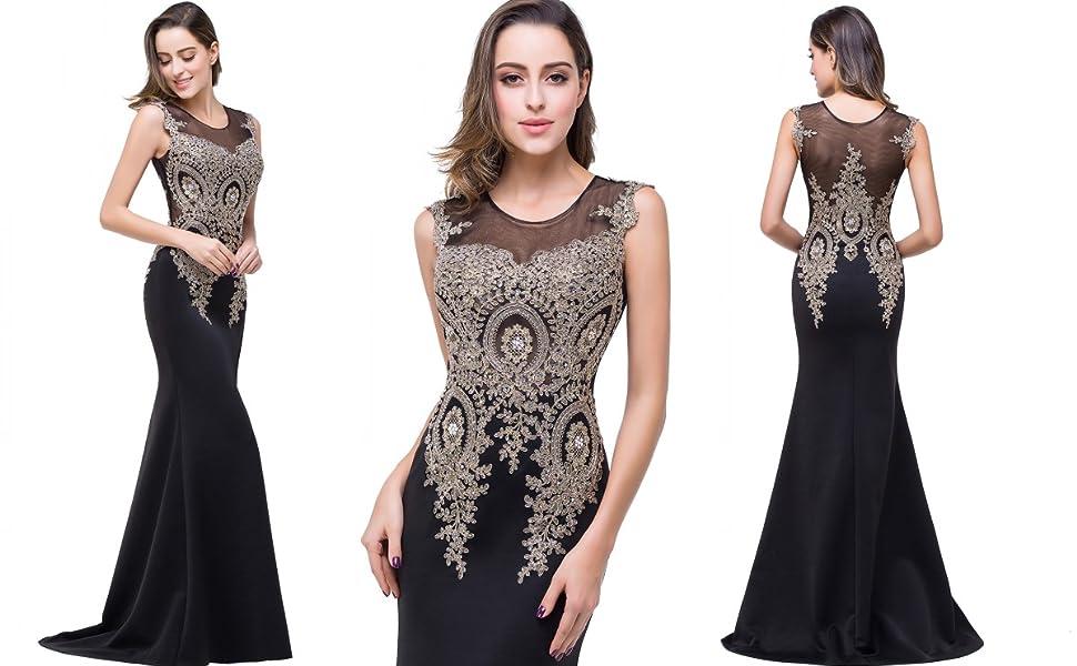 Prom Dress with Rhinestones