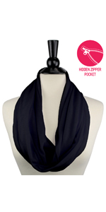 infinity scarves lightweight, infinity scarves with pockets, hidden pocket scarf, hidden pocket