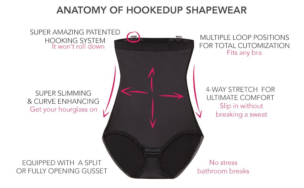11be91118cd HookedUp Women s Thigh Shapewear Firm Tummy Control High Waist ...
