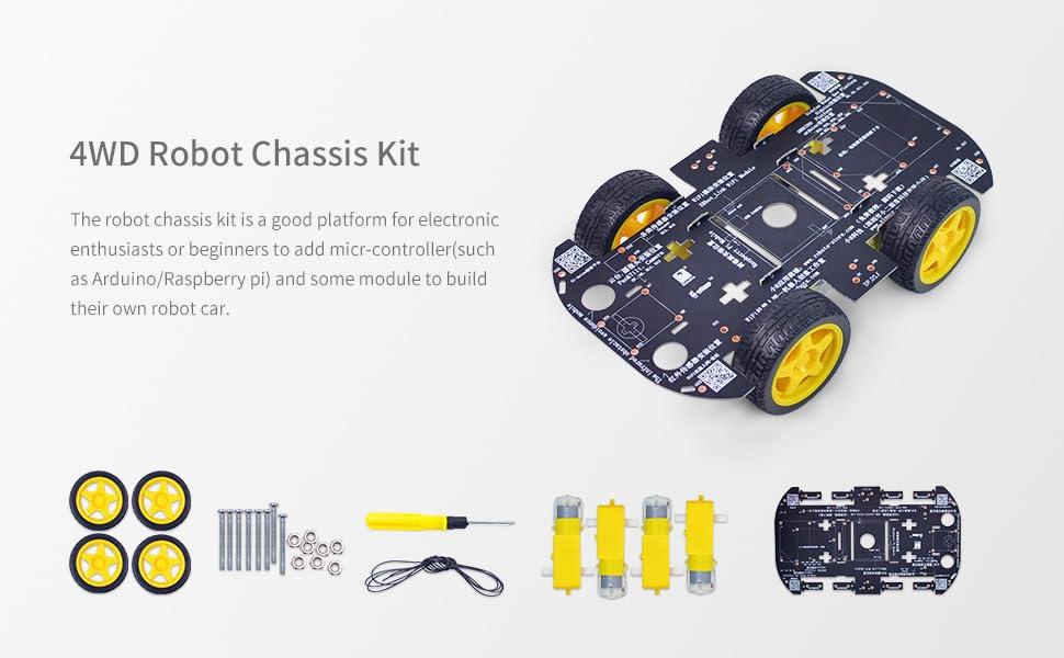 Tracked Robot Tank Platform Smart Car Chassis Solid Structure 22 lb Load DC 12V