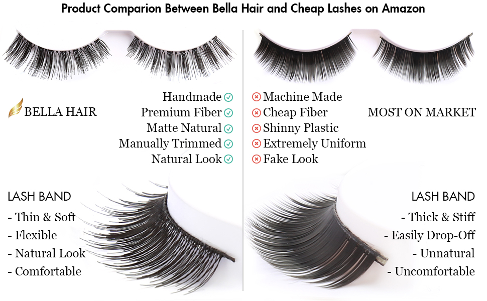 Amazon Bella Hair 60 Pairs Reusable Handmade Fake Eyelashes